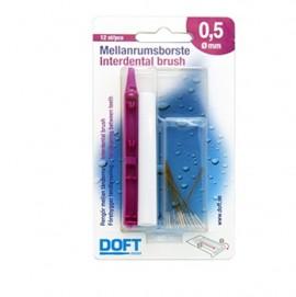 DOFT Interdental Brush, Μεσοδόντια Βουρτσάκια 0.5mm - 12τμχ