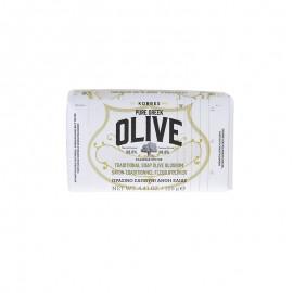 KORRES Pure Greek Olive Παραδοσιακό Πράσινο Σαπούνι με Άνθη Ελιάς 125gr