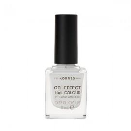 KORRES Gel Effect Βερνίκι Νυχιών White No01 11ml