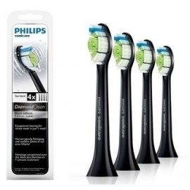PHILIPS Sonicare DiamondClean Standard Black Edition -  Ανταλλακτικές Κεφαλές Οδοντόβουρτσας 4τεμ