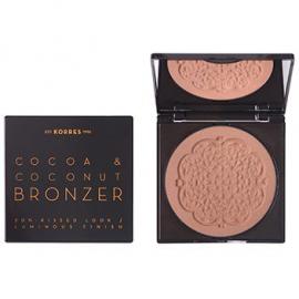 KORRES Cocoa & Coconut Bronzer 02 Warm Shade Μεταξένια Πούδρα Μαυρίσματος 10gr