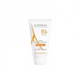 A-DERMA Protect Cream SPF50+ Αντηλιακό Προσώπου για Κανονικές - Ξηρές Επιδερμίδες - 40ml