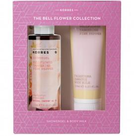 KORRES Σετ Bellflower Tangerine Pink Pepper Αφρόλουτρο - 250ml & Γαλάκτωμα Σώματος 125ml