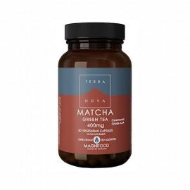 TERRANOVA Matcha Green Tea 400mg Συμπλήρωμα Διατροφής με Πράσινο Τσάι Βιολογικής Καλλιέργειας 50 φυτικές κάψουλες