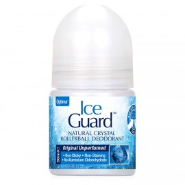 OPTIMA Ice Guard Natural Crystal Rollerball Deodorant, Original Unperfumed - 50ml