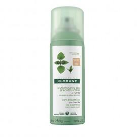 KLORANE Shampooing Sec a L' Ortie Brown to Dark Hair Dry Shampoo με Τσουκνίδα για Καστανά/Μαύρα μαλλιά - 50ml