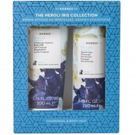 KORRES Σετ Neroli Iris Collection, Γαλάκτωμα Σώματος - 200ml & Αφρόλουτρο - 250ml