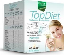 Power Health - Power Top Diet, Υποκατάστατο Γεύματος με γεύση  Βανίλια ,10 Φακελάκια Χ 35gr