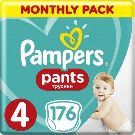 PAMPERS Pants Νο4 (9-14kg) Monthly Pack 176τμχ