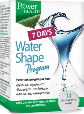 POWER HEALTH  7 Days Water Shape Program, 14 αναβράζοντα δισκία