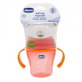 CHICCO Μαλακό Κύπελλο Soft Cup 6m+ Κόκκινο