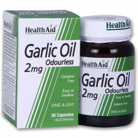 HEALTH AID Garlic Oil (Άοσμο) 2mg 30Caps