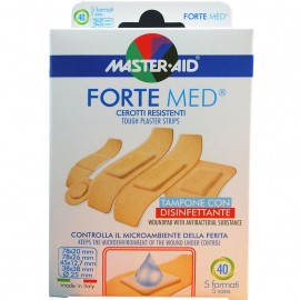 MASTER AID Forte Med  Αυτοκόλλητες, Αντικολλητικές Γάζες 5 Μεγέθη 40μχ