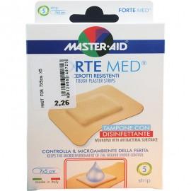 MASTER AID Forte Med - Αδιάβροχος Μικροεπίδεσμος 7x5 cm 5τμχ