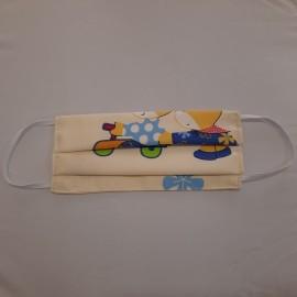 ΜΑΣΚΑ Προστασίας Υφασμάτινη Παιδική 100% Βαμβακερή - 1τμχ