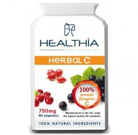 HEALTHIA Herbal C 750mg - 60 κάψουλες