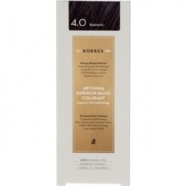 KORRES Βαφή Μαλλιών Abyssinia Superior Gloss Colorant Καστανό 4.0 50ml