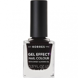 KORRES Gel Effect Nail Colour 76 Smokey Plum Με Αμυγδαλέλαιο 11ml