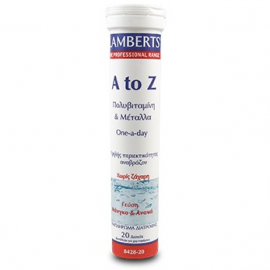 LAMBERTS A-Z Πολυβιταμίνη για Τόνωση και Ενέργεια σε 20 Αναβράζοντα Δισκία