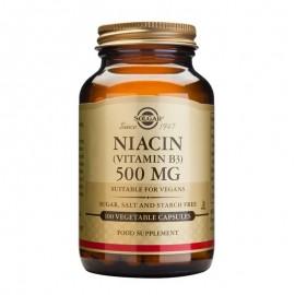 SOLGAR Niacin, Vitamin B3 500mg - 100veg.caps