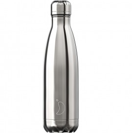 CHILLY'S BOTTLES Μπουκάλι- Θερμός, Silver - 500ml