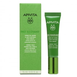 APIVITA  Bee Radiant, Κρέμα Ματιών με Λευκή Παιώνια - 50ml