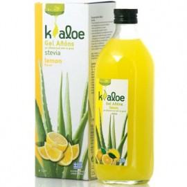 Kaloe Gel Αλόης Φυσικός χυμός βιολογικής αλόης με λεμόνι 1Lt