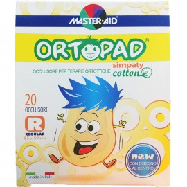 MASTER AID Ortopad Regular Simpaty - Παιδικά Οφθαλμικά αυτοκόλλητα (85x59mm)  20τμχ