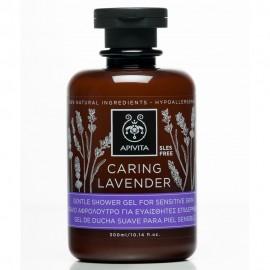 APIVITA  Caring Lavender Απαλό Αφρόλουτρο Για Ευαίσθητες Επιδερμίδες 300ml