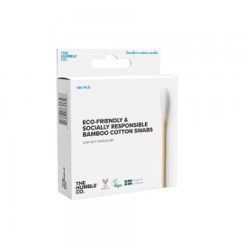 THE HUMBLE CO Bamboo Cotton Swabs, Μπατονέτες Μπαμπού Λευκές - 100τμχ
