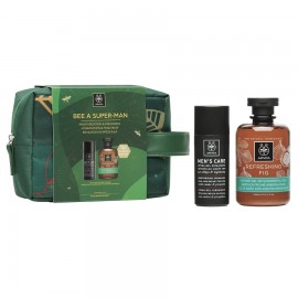 APIVITA Bee A Super-Man, Moisturizing Cream-Gel - 50ml & Refreshing Fig Shower - 300ml