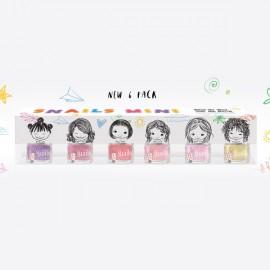 SNAILS Mini Pack Παιδικά Βερνίκια Νυχιών - 6x7ml
