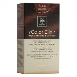 APIVITA My Color Elixir, Βαφή Μαλλιών No 6.44 - Ξανθό Σκούρο Έντονο Χάλκινο