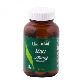 HEALTH AID Maca 500mg Equivalent Συμπλήρωμα Διατροφής Για Την Τόνωση & Ευεξία Του Οργανισμού 60 Φυτικές Ταμπλέτες