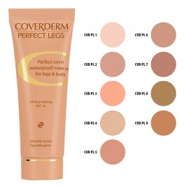COVERDERM Perfect Legs no 9, Αδιάβροχο Make-Up για Πόδια και Σώμα, SPF16 - 50ml