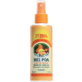 HEI POA Monoi Milk SPF20 Tiare Spray Ανάλαφρο Αδιάβροχο Αντηλιακό Γαλάκτωμα Monoi με Άρωμα Tiare 150ml