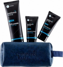 PANTHENOL Extra Men Gift For Him Ολοκληρωμένη Περιποίηση Για Τον Άνδρα-(Panthenol Extra Men 3 In 1 Cleanser 200ml + After Shave Balm 75ml + Face & Eye Cream 75ml