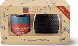 TERRANOVA Chronium Cinnamon & Lipoic Acid Συμπλήρωμα Διατροφής Για ρύθμιση του Σακχάρου 50Caps & ΔΩΡΟ Χτένα