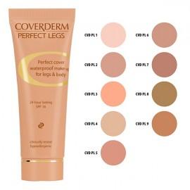COVERDERM Perfect Legs no 6, Αδιάβροχο Make-Up για Πόδια και Σώμα - 50ml