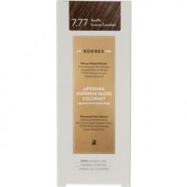 KORRES Βαφή Μαλλιών Abyssinia Superior Gloss Colorant Ξανθό Έντονο Σοκολατί 7.77 50ml