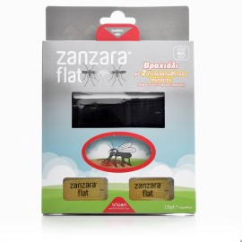 VICAN Zanzara Flat Εντομοαπωθητικό Βραχιόλι με δύο Ταμπλέτες - Μ/L