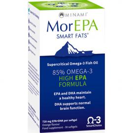 MINAMI NUTRITION MorEPA Συμπηκνωμένο Ω-3 που προέρχεται από φαρμακευτικής καθαρότητας ιχθυέλαιο 30caps