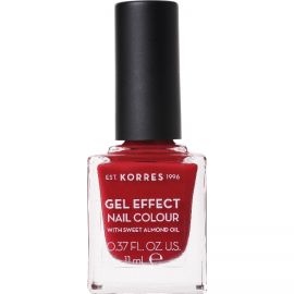 KORRES Gel Effect Nail Colour No.56 Celebration Red Βερνίκι Νυχιών 11ml