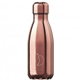 CHILLY'S BOTTLES Μπουκάλι- Θερμός, Chrome Edition Rose Gold - 260ml