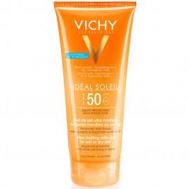 VICHY Ideal Soleil Αντηλιακό Γαλάκτωμα–Gel για Υγρό ή Στεγνό Δέρμα SPF50 - 200ml