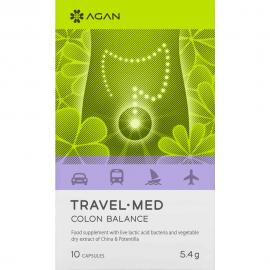 AGAN Travel-Med Colon Balance Συμπλήρωμα για την Εξισορρόπιση της Χλωρίδας του Εντέρου 10 tabs