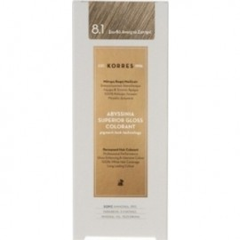 KORRES Βαφή Μαλλιών Abyssinia Superior Gloss Colorant Ξανθό Ανοιχτό Σαντρέ 8.1 50ml