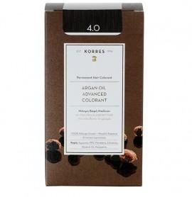 KORRES Βαφή Argan Oil  4.0 Καστανό Φυσικό - 50ml