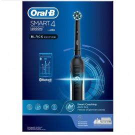 ORAL B Smart 4 4000N Black Edition, Ηλεκτρική Οδοντόβουρτσα