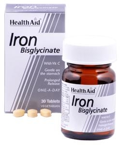 HEALTH AID Iron Bisglycinate 30Tabs